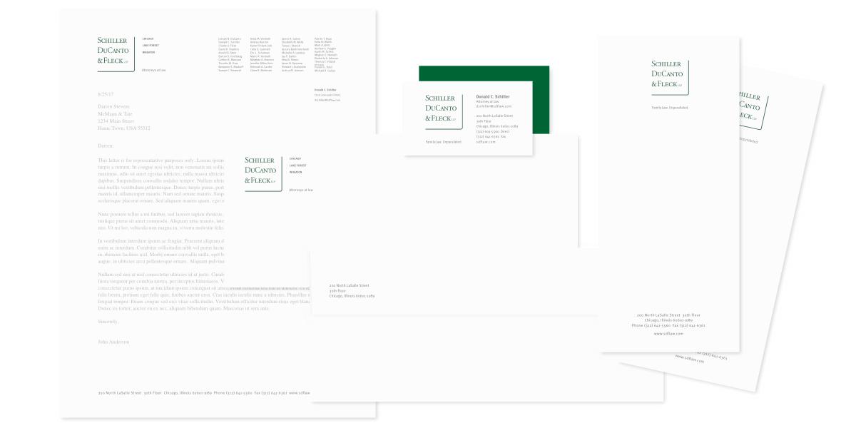 Schiller, DuCanto & Fleck stationery